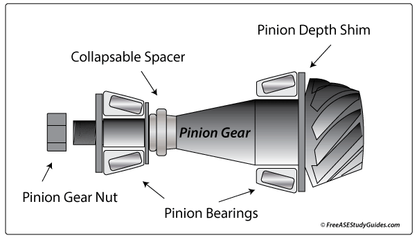 Differential pinion gear.