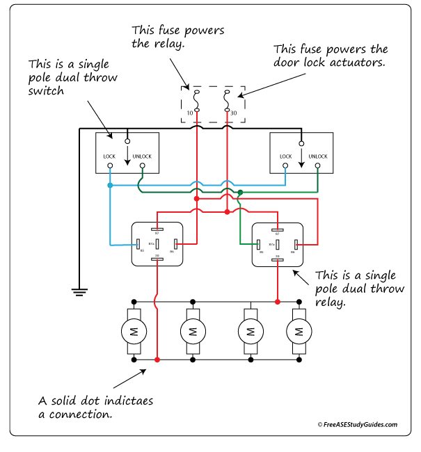 diagram of a ground side switched relay circuit. Black Bedroom Furniture Sets. Home Design Ideas