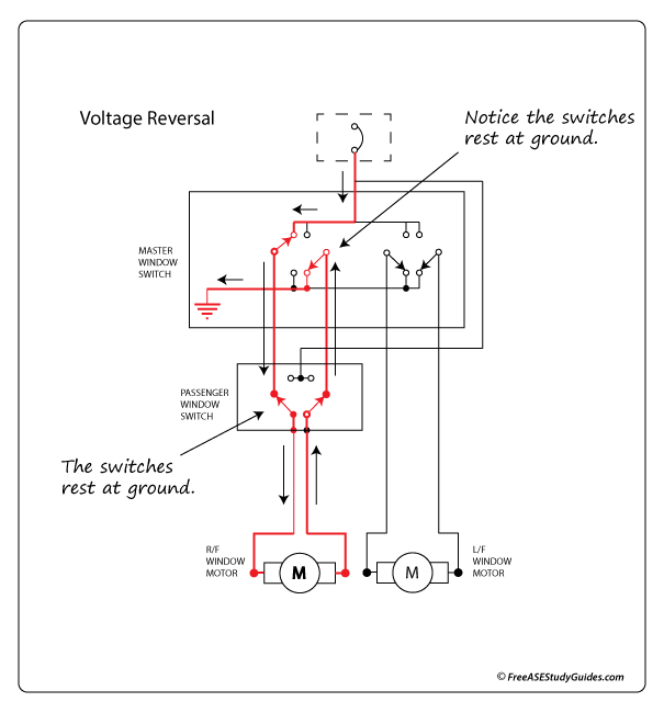 diagram of a power window circuit