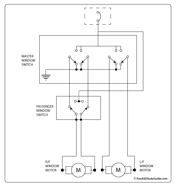 Power window circuit.